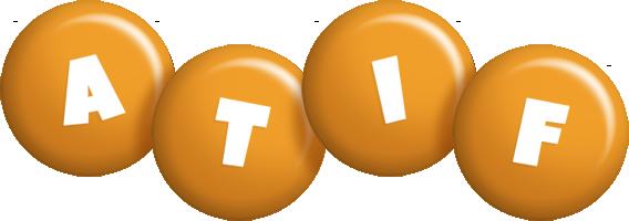 Atif candy-orange logo