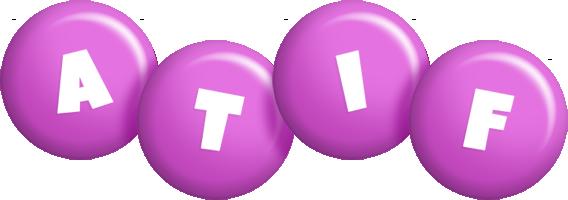 Atif candy-purple logo