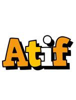 Atif cartoon logo