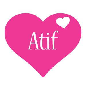 Atif love-heart logo