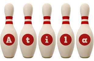 Atila bowling-pin logo