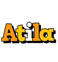 Atila cartoon logo