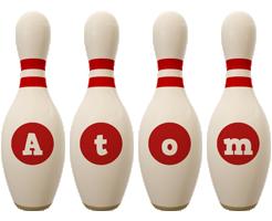 Atom bowling-pin logo