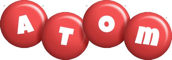 Atom candy-red logo