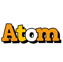 Atom cartoon logo