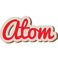 Atom chocolate logo