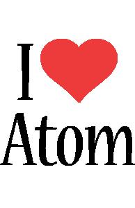 Atom i-love logo