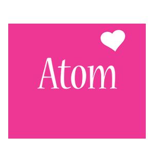 Atom love-heart logo