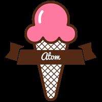 Atom premium logo