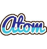Atom raining logo