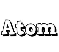 Atom snowing logo