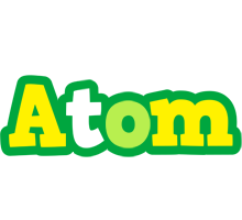 Atom soccer logo