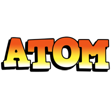 Atom sunset logo