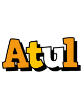 Atul cartoon logo