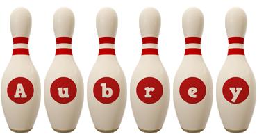 Aubrey bowling-pin logo