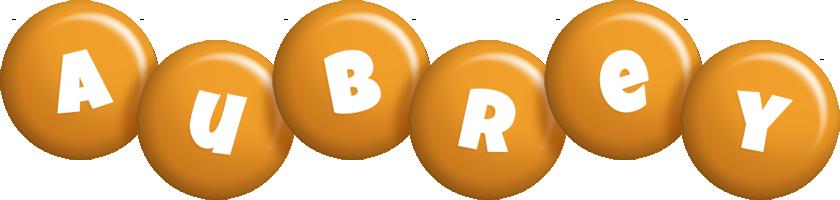 Aubrey candy-orange logo
