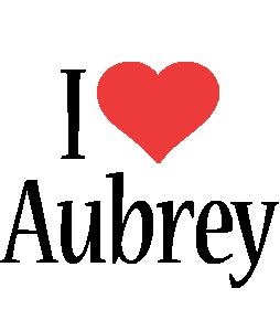 Aubrey i-love logo