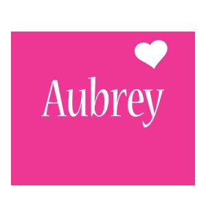 Aubrey love-heart logo