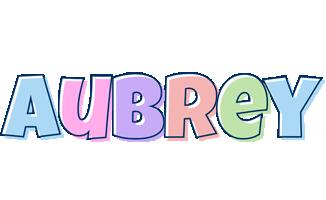 Aubrey pastel logo