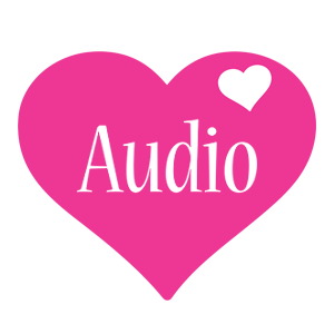 Audio love-heart logo