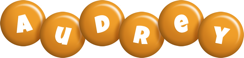 Audrey candy-orange logo