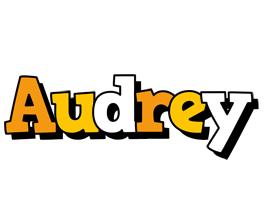 Audrey cartoon logo