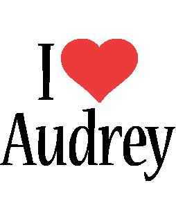 Audrey i-love logo