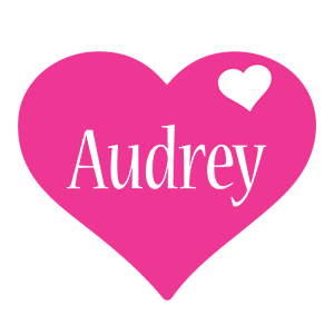 Audrey love-heart logo
