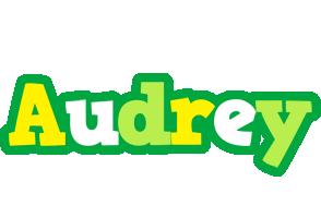 Audrey soccer logo
