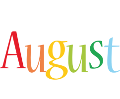 August birthday logo