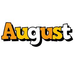 August cartoon logo