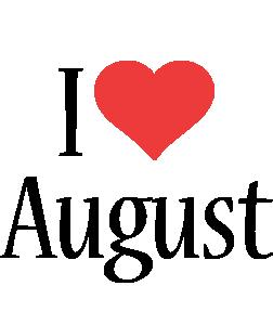 August i-love logo
