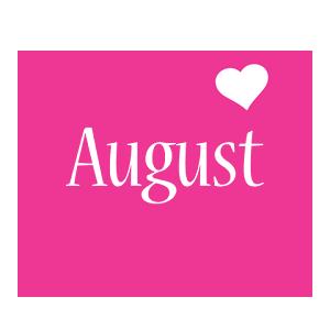 August love-heart logo
