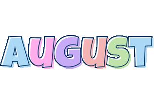 August pastel logo