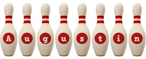Augustin bowling-pin logo