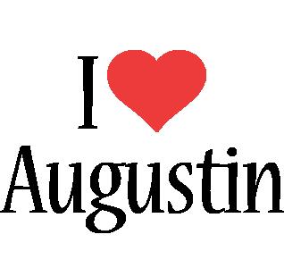Augustin i-love logo