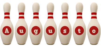 Augusto bowling-pin logo