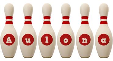 Aulona bowling-pin logo