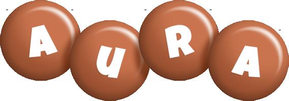 Aura candy-brown logo
