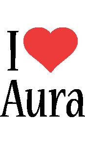 Aura i-love logo