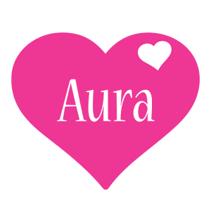 Aura love-heart logo
