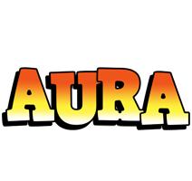 Aura sunset logo