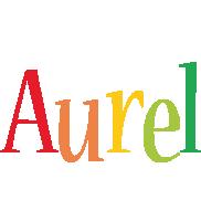 Aurel birthday logo