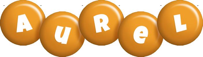 Aurel candy-orange logo