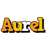 Aurel cartoon logo