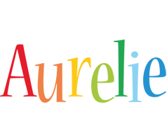 Aurelie birthday logo