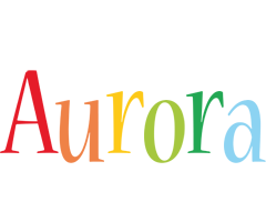 Aurora birthday logo