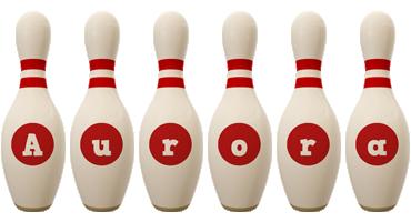 Aurora bowling-pin logo