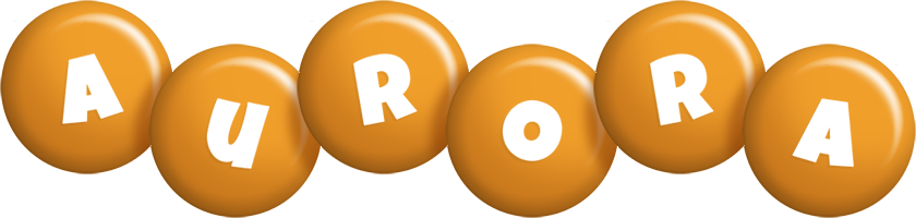 Aurora candy-orange logo