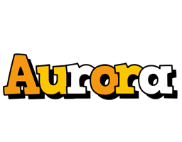 Aurora cartoon logo